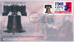 Delton, MI (MPPC #58) First Day Cover of America`s new Forever Stamp using the FDOI stamp to enhance the cover.